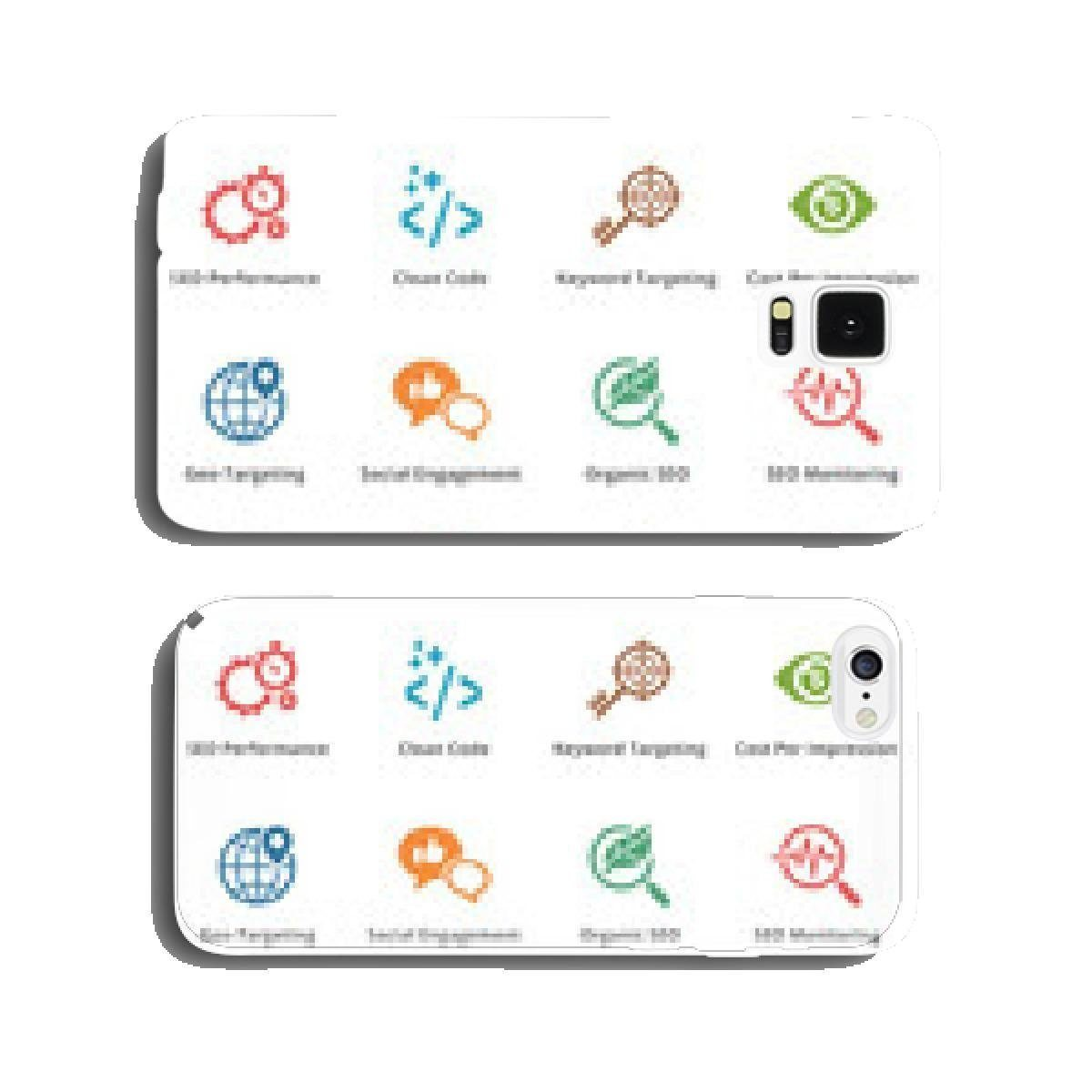 SEO & Internet Marketing Icons – Set 4   Colored Series cell phone cover case Samsung S6