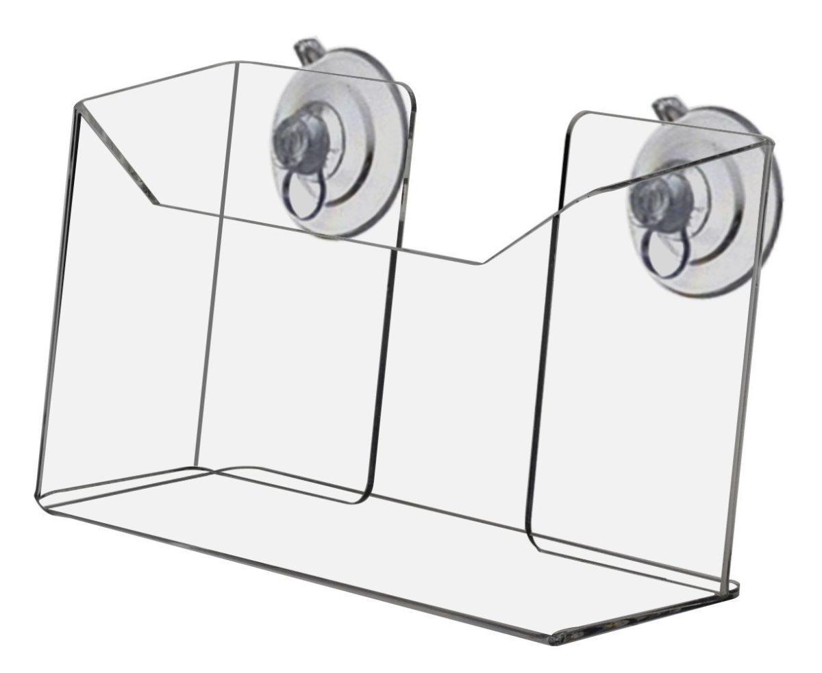 Marketing Holders Clear Acrylic Wall Mount Suction Cup Postcard Holder